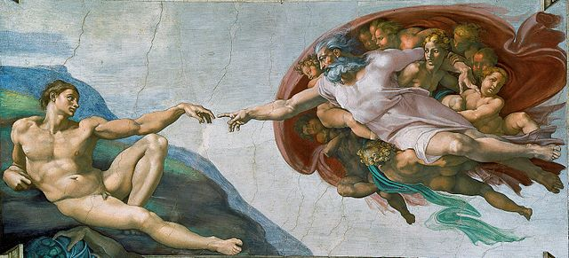 Creation of Man, Sistine Chapel ceiling, Michelangelo, 1508-12
