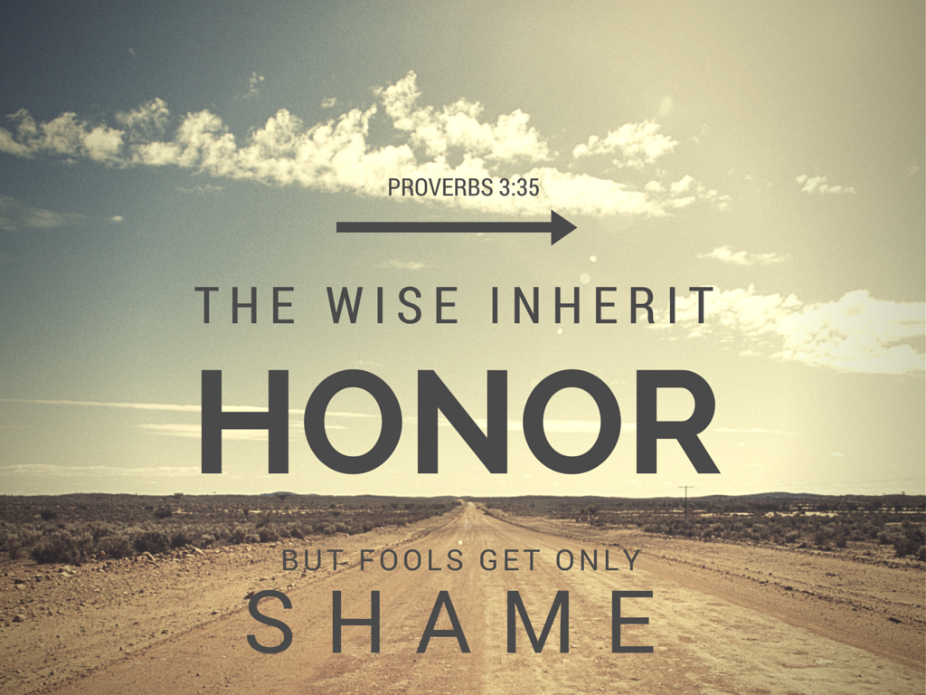 Proverbs honor shame
